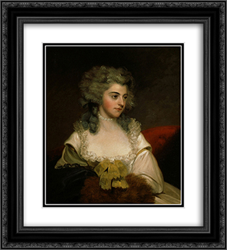 Susannah Edith, Lady Rawley 20x22 Black or Gold Ornate Framed and Double Matted Art Print by John Hoppner