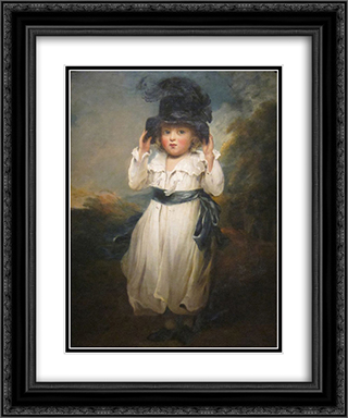 The Hon. Alicia Herbert as a Child 20x24 Black or Gold Ornate Framed and Double Matted Art Print by John Hoppner