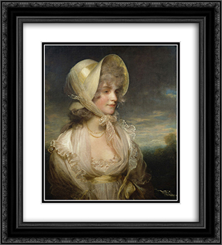 The Honorable Lucy Elizabeth Byng 20x22 Black or Gold Ornate Framed and Double Matted Art Print by John Hoppner