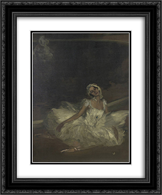 Le Mort du Cygne Anna Pavlova 20x24 Black or Gold Ornate Framed and Double Matted Art Print by John Lavery
