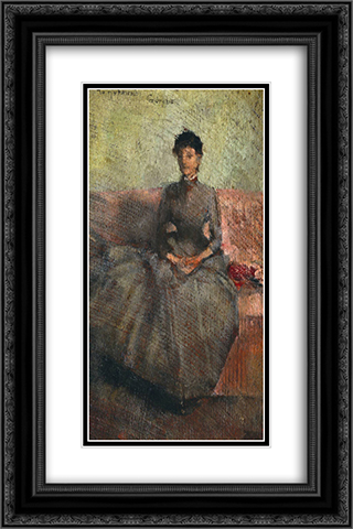 Mrs Guthrie 16x24 Black or Gold Ornate Framed and Double Matted Art Print by John Lavery