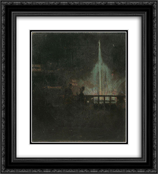 The Fairy Fountain, Glasgow International Exhibition 20x22 Black or Gold Ornate Framed and Double Matted Art Print by John Lavery