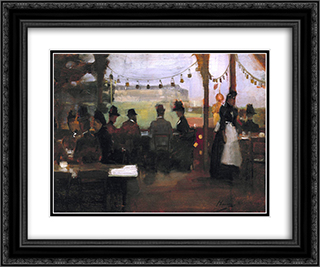 The Glasgow Exhibition 24x20 Black or Gold Ornate Framed and Double Matted Art Print by John Lavery