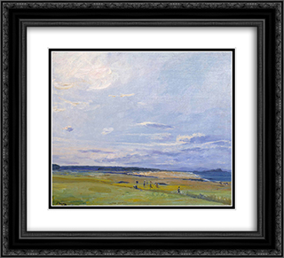 The Golf Course, North Berwick 22x20 Black or Gold Ornate Framed and Double Matted Art Print by John Lavery