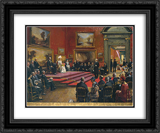The Opening of the Modern Foreign and Sargent Galleries at the Tate Gallery, 26 June 1926 24x20 Black or Gold Ornate Framed and Double Matted Art Print by John Lavery