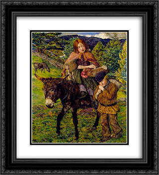 John Lee-Going to Market 20x22 Black or Gold Ornate Framed and Double Matted Art Print by John Lee