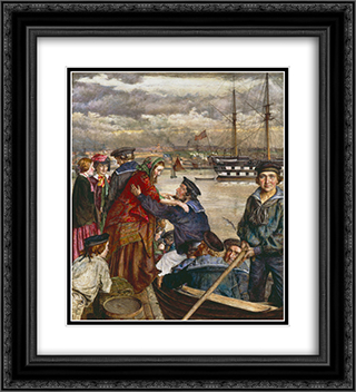John Lee-Sweethearts and Wives 20x22 Black or Gold Ornate Framed and Double Matted Art Print by John Lee