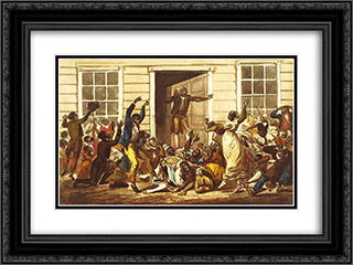 Black People's Prayer Meeting 24x18 Black or Gold Ornate Framed and Double Matted Art Print by John Lewis Krimmel