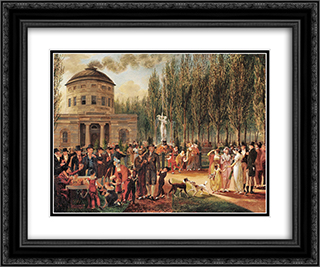 Fourth of July in Centre Square Philadelphia 24x20 Black or Gold Ornate Framed and Double Matted Art Print by John Lewis Krimmel