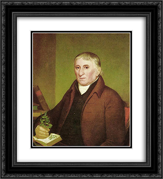Portrait of Jacob Ritter Sr. 20x22 Black or Gold Ornate Framed and Double Matted Art Print by John Lewis Krimmel