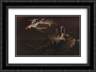 Calvary 24x18 Black or Gold Ornate Framed and Double Matted Art Print by John Martin
