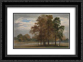 Hyde Park 24x18 Black or Gold Ornate Framed and Double Matted Art Print by John Martin