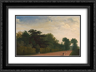 Kensington Gardens 24x18 Black or Gold Ornate Framed and Double Matted Art Print by John Martin