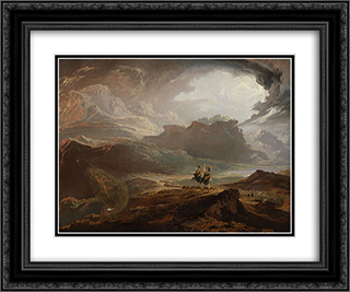 Macbeth 24x20 Black or Gold Ornate Framed and Double Matted Art Print by John Martin