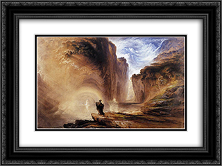 Manfred and the Alpine Witch 24x18 Black or Gold Ornate Framed and Double Matted Art Print by John Martin