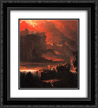 Sadak in Search of the Waters of Oblivion 20x22 Black or Gold Ornate Framed and Double Matted Art Print by John Martin