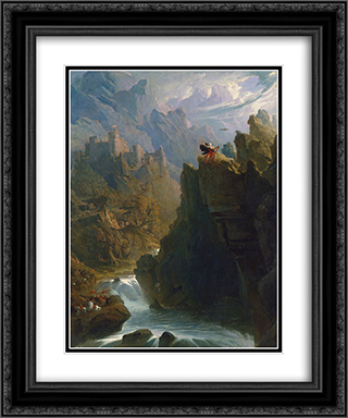 The Bard 20x24 Black or Gold Ornate Framed and Double Matted Art Print by John Martin