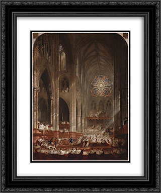 The Coronation of Queen Victoria 20x24 Black or Gold Ornate Framed and Double Matted Art Print by John Martin