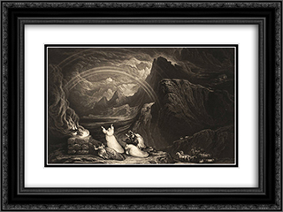The Covenant 24x18 Black or Gold Ornate Framed and Double Matted Art Print by John Martin