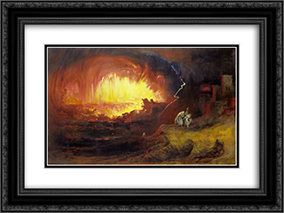 The Destruction of Sodom and Gomorrah 24x18 Black or Gold Ornate Framed and Double Matted Art Print by John Martin