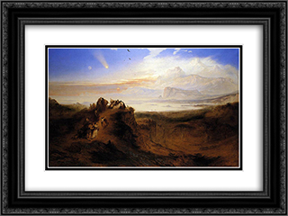 The Eve of the Deluge 24x18 Black or Gold Ornate Framed and Double Matted Art Print by John Martin