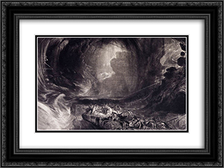 The Evening of the Deluge 24x18 Black or Gold Ornate Framed and Double Matted Art Print by John Martin