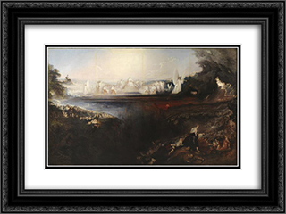 The Last Judgement 24x18 Black or Gold Ornate Framed and Double Matted Art Print by John Martin