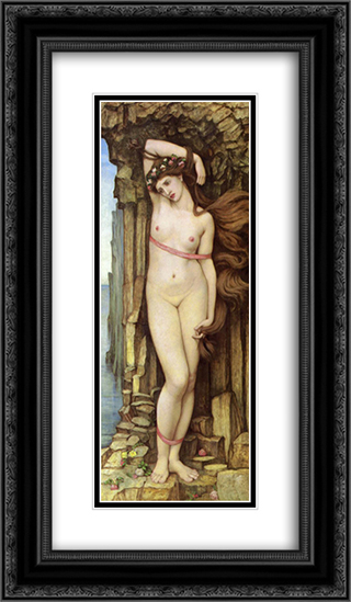 Andromeda 14x24 Black or Gold Ornate Framed and Double Matted Art Print by John Roddam Spencer Stanhope