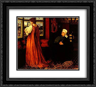 Juliet and her nurse 22x20 Black or Gold Ornate Framed and Double Matted Art Print by John Roddam Spencer Stanhope