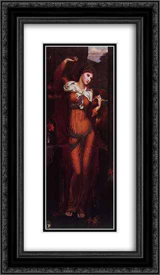 Morgan Le Fay 14x24 Black or Gold Ornate Framed and Double Matted Art Print by John Roddam Spencer Stanhope