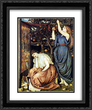 Penelope 20x24 Black or Gold Ornate Framed and Double Matted Art Print by John Roddam Spencer Stanhope
