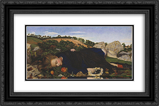Robin of Modern Times 24x16 Black or Gold Ornate Framed and Double Matted Art Print by John Roddam Spencer Stanhope