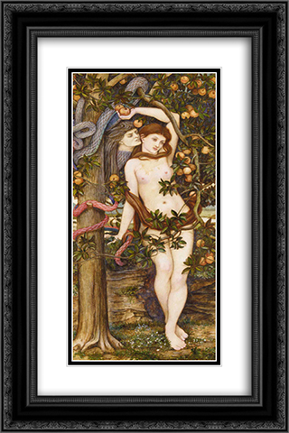 The Temptation of Eve 16x24 Black or Gold Ornate Framed and Double Matted Art Print by John Roddam Spencer Stanhope