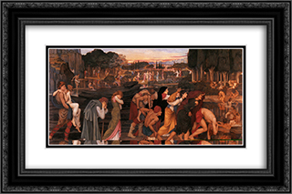 The Waters of Lethe by the Plains of Elysium 24x16 Black or Gold Ornate Framed and Double Matted Art Print by John Roddam Spencer Stanhope