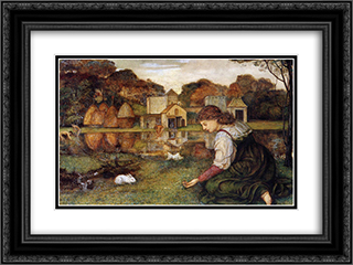 The White Rabbit 24x18 Black or Gold Ornate Framed and Double Matted Art Print by John Roddam Spencer Stanhope