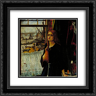 Thoughts of the Past 20x20 Black or Gold Ornate Framed and Double Matted Art Print by John Roddam Spencer Stanhope