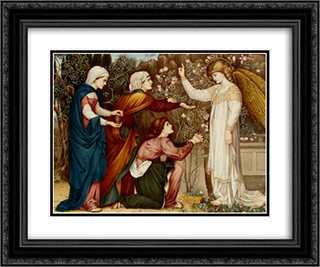 Why seek ye the living among the dread (St Luke, Chapter XIV, verse 5) 24x20 Black or Gold Ornate Framed and Double Matted Art Print by John Roddam Spencer Stanhope
