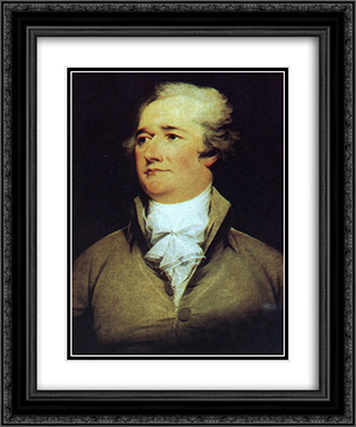 Alexander Hamilton 20x24 Black or Gold Ornate Framed and Double Matted Art Print by John Trumbull