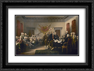 Declaration of Independence 24x18 Black or Gold Ornate Framed and Double Matted Art Print by John Trumbull
