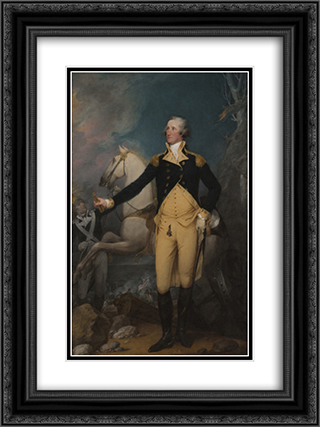 George Washington Before the Battle of Trenton 18x24 Black or Gold Ornate Framed and Double Matted Art Print by John Trumbull