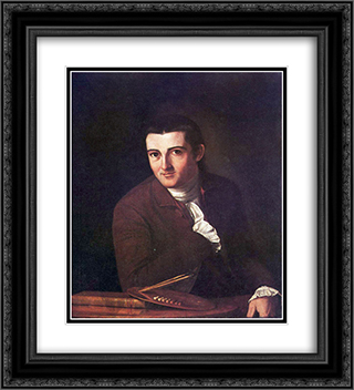 Self-portrait 20x22 Black or Gold Ornate Framed and Double Matted Art Print by John Trumbull