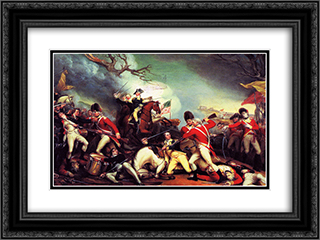 The Death of General Mercer at the Battle of Princeton 24x18 Black or Gold Ornate Framed and Double Matted Art Print by John Trumbull