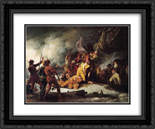 The Death of General Montgomery in the Attack on Quebec 24x20 Black or Gold Ornate Framed and Double Matted Art Print by John Trumbull