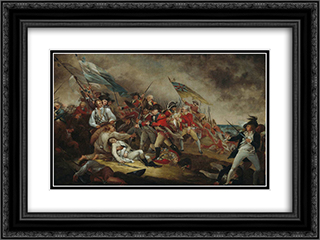 The Death of General Warren at the Battle of Bunker's Hill, June 17, 1775 24x18 Black or Gold Ornate Framed and Double Matted Art Print by John Trumbull