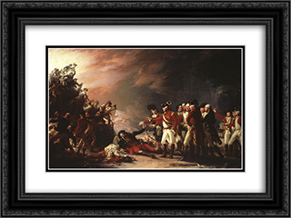 The Sortie Made by the Garrison of Gibraltar 24x18 Black or Gold Ornate Framed and Double Matted Art Print by John Trumbull