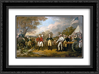 The Surrender of General Burgoyne 24x18 Black or Gold Ornate Framed and Double Matted Art Print by John Trumbull