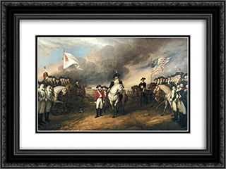 The Surrender of Lord Cornwallis 24x18 Black or Gold Ornate Framed and Double Matted Art Print by John Trumbull
