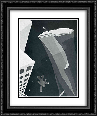 Acrophobia 20x24 Black or Gold Ornate Framed and Double Matted Art Print by John Vassos