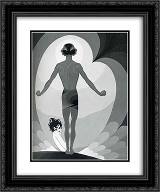Illustration for Oscar Wilde's 'Salome' 20x24 Black or Gold Ornate Framed and Double Matted Art Print by John Vassos