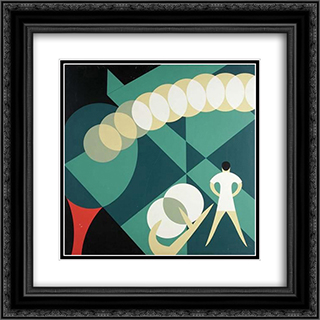 Untitled 20x20 Black or Gold Ornate Framed and Double Matted Art Print by John Vassos